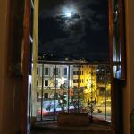 View from my room with the full moon