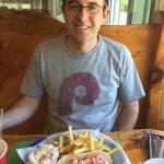 happy hubby w/lobster roll