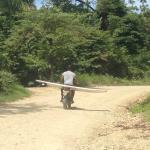 Amit leading me to Playa Hermosa