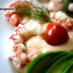 Wild atlantic prawn and avocado salad