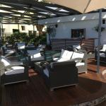 Shot of the sofa area in the Sirocco rooftop bar.