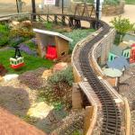 Outdoor Train Set in Children's Garden
