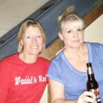Barbara and I, I look wide awake, LOL  Hot playing the game tonight, 100 degrees