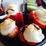 Stuffed strawberry for dessert