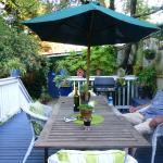 uitrusten in de tuin