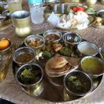 Vegetarian thali at Manuhar, the best I have eaten