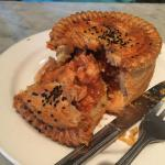 The Chicken Balti pie, exposed for your appetite