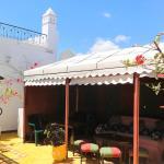 La tente de la terrasse supérieure idéale pour vos petits déjeuners ou repas