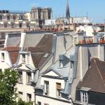 Vista do hotel, Notre Dame.