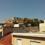 View of the Acropolis from Rooftop Patio