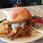 "Happy hour ""Chip Butty"" (French fry sandwich).  Yum!!"