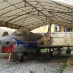 Fiat G -91 nel cortile della casa museo