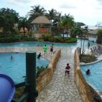 view from top of slide to the river pool