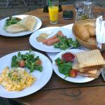 Some of the breakfast menu items