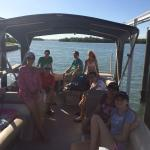 The gang on the boat.
