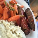 Meat Loaf and carrots