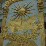 Beautiful brass relef mural in lobby