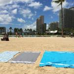 Our 'Noosa Beach Towels' on Waikiki Beach!