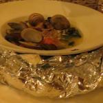 "Alan Wong's ""da bag"" of steamed clams"