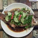 Red snapper with tamarind sauce