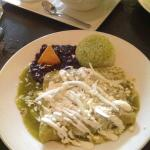 Beef Enchiladas with Green Sauce.