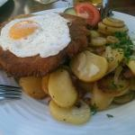 Hamburger Schnitzel - große Portion
