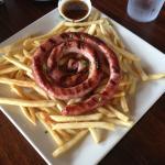 Salchicha Parillera (Argentine spiral sausage)