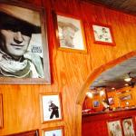John Wayne on the walls in this restaurant in Bandera