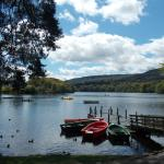 Loch Faskally, outside the Pitlochry Boating Station Cafe