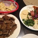 Maza Salad and Side of Gyro Meat