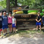 family kayaking at Chippewa Landing