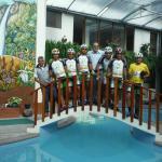 Ciclistas en la vuelta al Ecuador