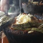 chicken molcajete with cactus