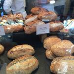 looking at the fresh breads