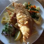 Lovely haddock and chips !