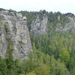 Das grandiose Panorama des Elbsandsteingebirges
