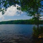 Panoramic view of the beautiful lake!
