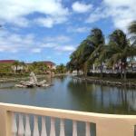 The hotel's lagoon