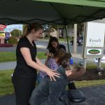Chair massages at a special event