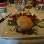 The lamb burger