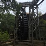 The waterwheel outside the bale grist mill