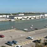 Vista del río Guadalete desde la piscina en la azotea