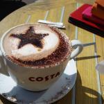 Grande Mocha-Latte with a flourish of art