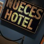 Iconic sign to the Nueces Hotel.