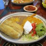 My lunch Chimichanga with Guacamole, Great!