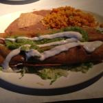 Chicken Flautas with authentic rice and beans