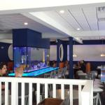 View from the side dining area