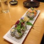 Sushi combo rolls