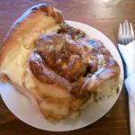 cinny bun as big as my head! yum!