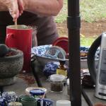 mixing a traditional hot chocolate